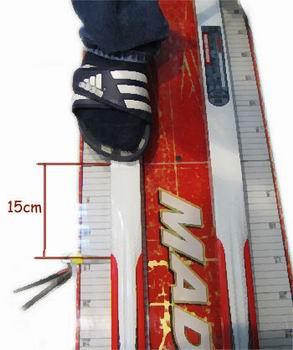 щуп доходит до 15 см перед носком ботинка